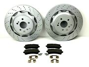 Mercedes S63 And S65 Amg Rear Brake Pads And Rotors Set - High Quality