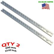 Qty 2 L-track Airline Toss Track Tie Down 600 Mm / 24 Inch Approx Usa Aluminum