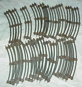 Large Lot Of Lionel O Gauge Track Straight Sections 23 Pieces Brown