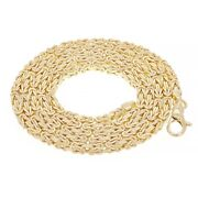 Italian 14k Yellow Gold Solid Square Byzantine Chain Necklace 26 2.9mm 40.6g