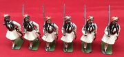 6 Vintage Metal Toy Soldiers Lot Kilts Made In England Britains Ltd Rare