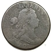 1801 S-218 R-5+ 3 Error Rev Draped Bust Large Cent Coin 1c