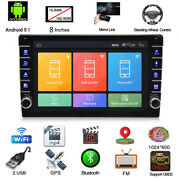 Single 1din 8and039and039 Inch Android 9.1 Car Stereo Mp5 Radio Player Gps Navi Wifi
