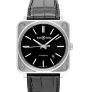 Bell And Ross Instruments Brs92-blc-st/scr Black Dial Menand039s Watch Genuine