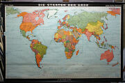 World Map World Countries Earth Poster Wall Chart Print