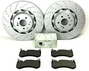 Mercedes S63 And S65 Amg Front Brake Pads And Rotors Set - Genuine
