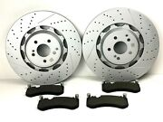 Mercedes S63 And S65 Amg Front Brake Pads And Rotors Set - High Quality