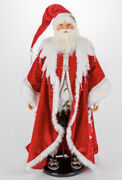 """Katherine's Collection Snow Day Santa Doll 28-028698 New 32"""""""