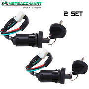 2 Set Ignition Key Switch For Chinese Scooter 4wires Taotao Go Kart Atv Quad Dir
