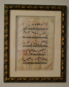 1698 Hand Written In Latin Page From Religious Book Of Psalms From Spain