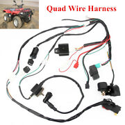 Wiring Harness Loom Solenoid Coil Cdi For Atv Pit Quad Dirt Bike 50/110/125cc