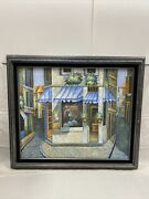 Signed Mariel Chapot Oil On Canvas Italian Street Scene Framed And Matted