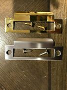 Lot Of 50 Brass Mortise Bolt Lock Latch Catch Strike Plate Us3 Or 26d