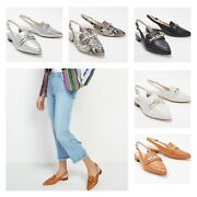 Marc Fisher Leather Or Animal Print Slingback Flats - Frona   Various   Choose