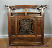 16 Old Chinese Huanghuali Wood Hand Carving Palace Phoenix Dragon Book Shelf