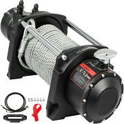 Vevor Hydraulic Winch, Anchor Winch 10000 Lbs,steel Cable Drive Winch For Towing
