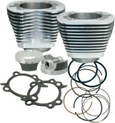 Cylindre / Kit Piston Double Arbre Andagrave Cames 106 Argent - Harley Davidson Abs...