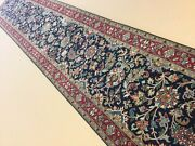 2andrsquo.7andrdquo X 13andrsquo.8andrdquo Blue Red Excellent Quality Floral All-over Hand Knotted Runner