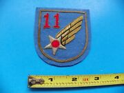 U.s. Army Air Corp 11th Officers Embroidered Jacket Patch-no Glow