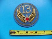 U.s. Army Air Corp 13th Officers Embroidered Jacket Patch-no Glow