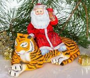 Wooden Hand Carved Santa Claus Figurine 10 Hand Painted Ded Moroz Father Frost
