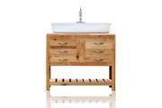 39 Reclaimed Wood Vanity Cabinet Vessel Sink Apothecary Chest Package