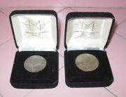 2 Russian Soviet Coins 1 And 3 Ruble Cccp 1985 Lenin 1991 50th Anniv. Wwii