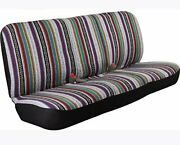 West Coast Auto Universal Baja Saddle Blanket Bench Full Size Seat Cover Fits Fo