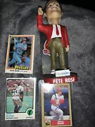 Cincinnati Reds Bobblehead Pete Rose Hall Of Fame 2016 Dinsmore With3 Cards