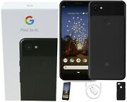 Google Pixel 3a Xl 64gb, Just Black, Factory Unlocked, Comes With Fall Bundle