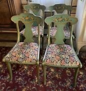 4 Original Paint Drexel Duncan Phyfe Dining Chairs Special Order 40andrsquos Vintage