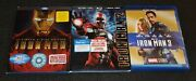 Iron Man 1, 2, And 3 Blu-ray Disc, Ultimate Edition 3 Films
