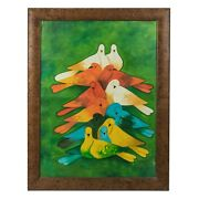 Haitian Exquisite Colorful And Vibrant Doves - Please Send An Offer Right Away