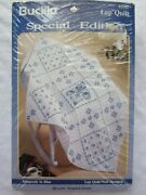 Bucilla Special Edition Stamped Lap Quilt/wall Hanging Rhapsody In Blue 63347