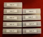 1920-29 P Mint Only Lincoln Wheat Cent Penny 9 Dated Rolls 1 Each Year 1921 Inc