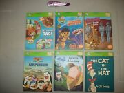 Leap Frog Reader Books Lot Of 2 And Purple Tag Pen.
