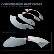 For 12-16 Nissan Gtr R35 Tp-style Frp Unpainted Front And Rear Fender Flares Addon