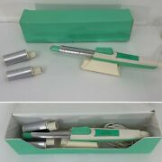Vintage Green Lady Kenmore Mist Curling Hot Iron Kit 1.5 2 Barrels With Case