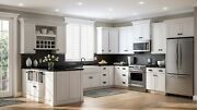 10'x10' White Shaker Solid Maple Wood Kitchen Cabinets - 5/8 Plywood Box