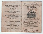 X Rare 1819 Medley - Only Known Example Childrenand039s Miniature Book - W Genealogy