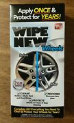 2- As Seen On Tv Wipe New Wheels Restoration Kit, Clean And Protect Car Shine