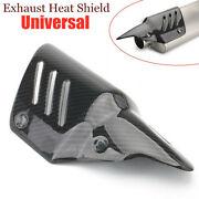 Motorcycle Exhaust Pipe Carbon Fiber Cover Protector Heat Insulation Shield Trim
