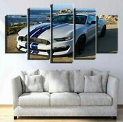 Framed Ford Mustang Car Poster Canvas Print Wall Art Home Decor 5pcs