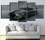 Framed Ford Mustang Black Car Poster Canvas Print Wall Art Home Decor 5 Pieces