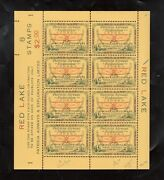 Canada Cl13c Cl13d Extra Fine Never Hinged Full Sheet Showing Route Inscrip