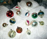Large Lot Antique Christmas Tree Glass Ornaments/balls -germany