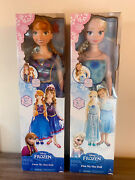 Disney Frozen My Size Elsa And Anna 38 Life Size Barbie Type Doll Light Up New