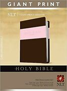 Holy Bible, Giant Print Nlt, Tutone Red Letter, Leatherlike, Pink/brown [im...