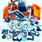 Complete Chainsaw Repair Parts For Husqvarna 61 268 272 Xp Engine Motor Cylinder