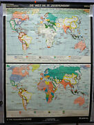 History Rollable Map World 19 Th Century